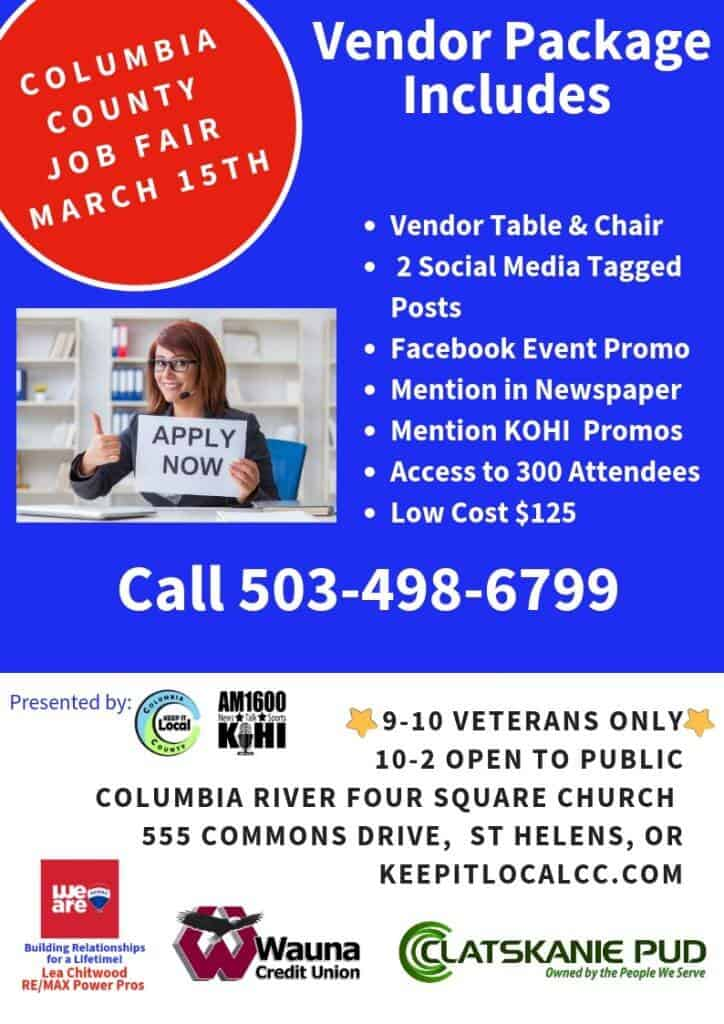 2019 columbia county job fair  u2013 keep it local columbia county
