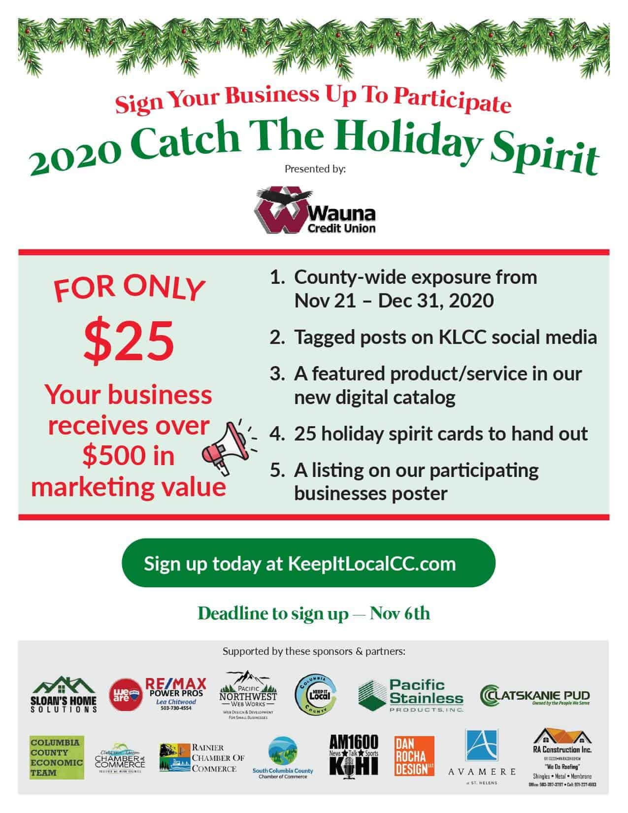 Catch The Holiday Spirit - Participating Business